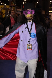 Fan dressed as Darkwing Duck at 2010 new York Comic Con.