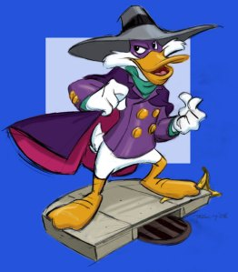 Sketch for Darkwing Duck maquette